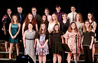 group of high school music performers