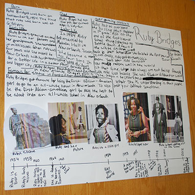 poster about Ruby Bridges