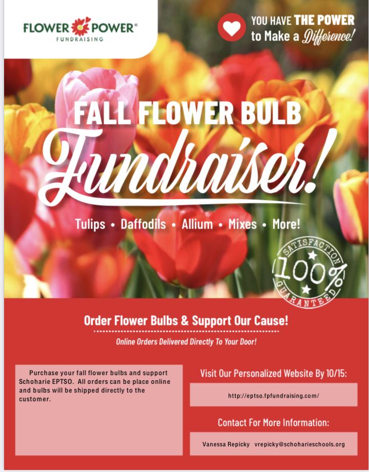Fall flower sale flyer
