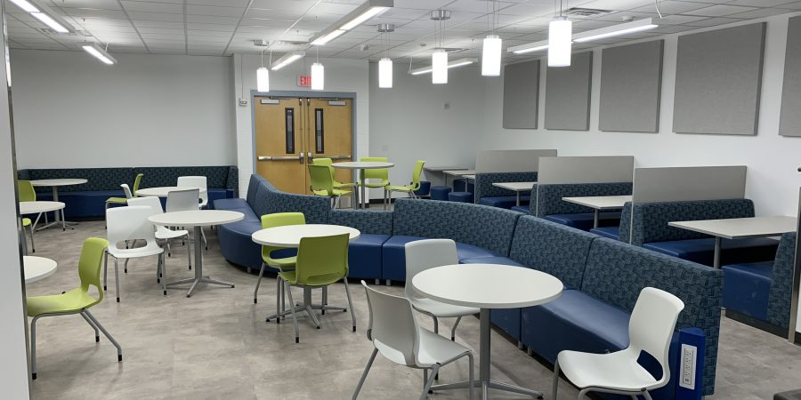 A renovated cafeteria is seen