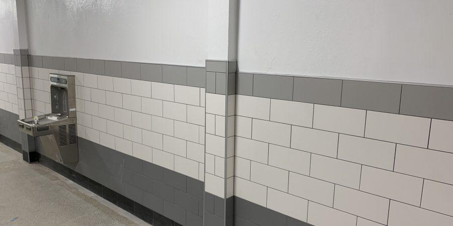 New hallway masonry
