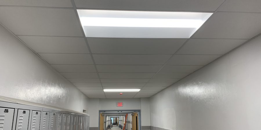 Ceilings are installed