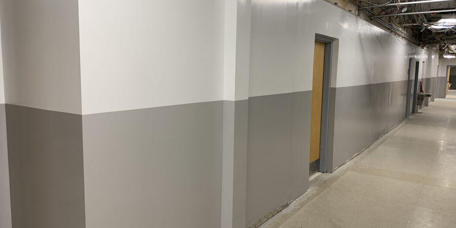 New hallway is seen
