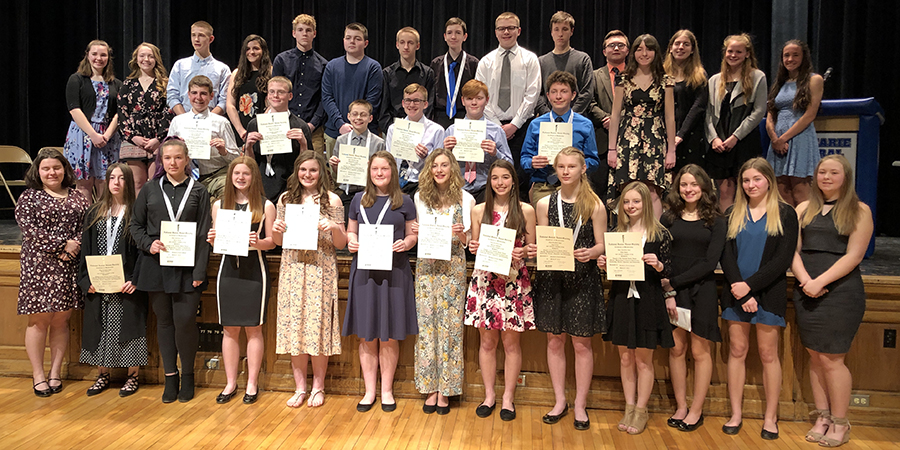 Current and new National Junior Honor Society members