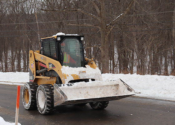Tyler drives Bobcat loader