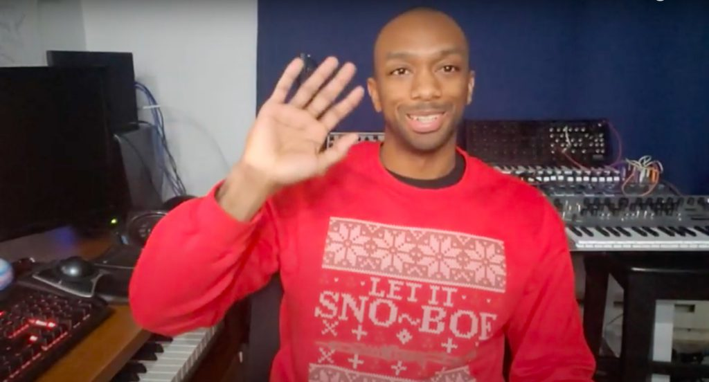 A man is seen waving