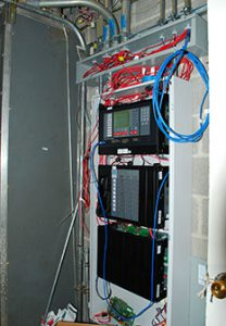 wiring panel for alarm system