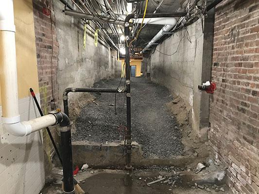 future basement hallway